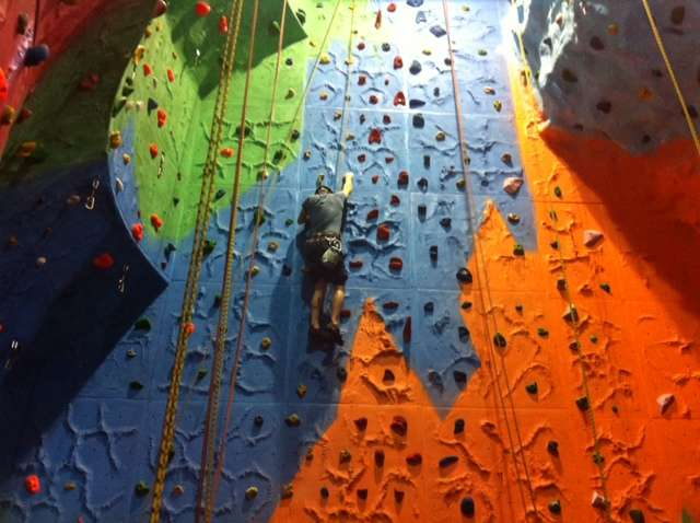 District Explorers visit Kent Scout Climbing Barn