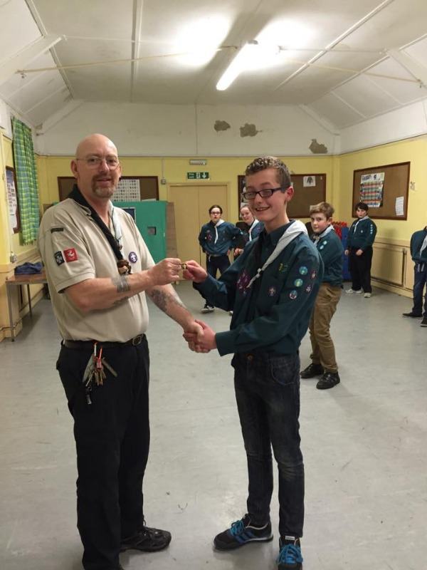 Tyler Hodgson receives his Chief Scout Gold award.jpg